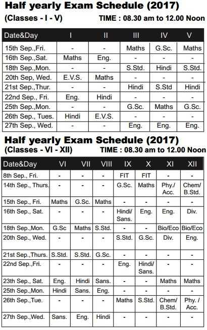 schedule in hindi
